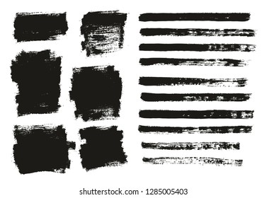Paint Brush Thin Background & Lines High Detail Abstract Vector Background Mix Set 140