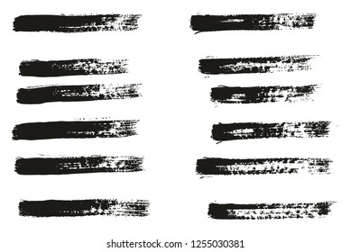 Paint Brush Thin Lines High Detail Abstract Vector Background Set 08