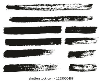 Paint Brush Thin Lines High Detail Abstract Vector Background Set 129