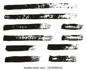 Paint Brush Thin Lines High Detail Abstract Vector Background Set 131