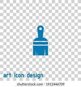 paint brush vector icon on an abstract background