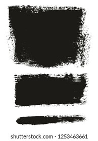 Paint Brush Wide Background & Lines High Detail Abstract Vector Background Mix Set 159