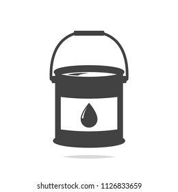 Paint bucket icon vector isolated