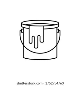 paint bucket line icon. Signs and symbols can be used for web, logo, mobile app, UI, UX