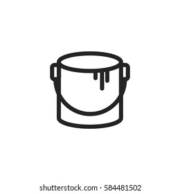Paint bucket vector icon, color symbol. Modern, simple flat vector illustration for web site or mobile app