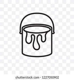 Paint bucket vector linear icon isolated on transparent background, Paint bucket transparency concept can be used for web and mobile