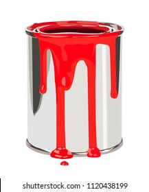 paint can vector realistic vector illustration isolated
