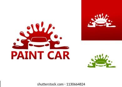 Paint Car Logo Template Design Vector, Emblem, Design Concept, Creative Symbol, Icon