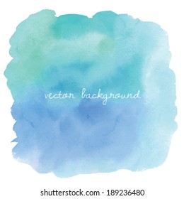 Paint Cloud Blue Ombre Watercolour Vector Abstract Background.