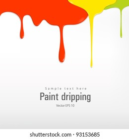 Paint colorful dripping vector illustration
