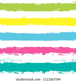 Paint Lines Seamless pattern. vector striped summer background. ink brush strokes. colorful stripes for swimming close, paintbrush line. spring stripes girly backdrop