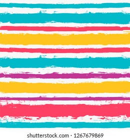 Paint Lines Seamless pattern. vector striped summer background. ink brush strokes. colorful stripes for swimming close, polo or T-shirt Modern hipster paintbrush line. spring stripes girly backdrop