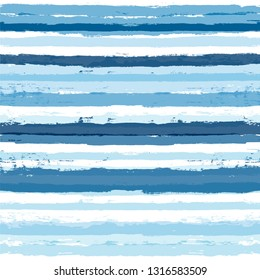 Paint Lines Seamless pattern. vector striped summer sea background. geometric sailor paint stripes. blue ink brush strokes. grunge stripes, modern paintbrush line for wrapping, wallpaper, textile