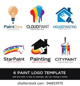 Paint Logo Template Design Vector