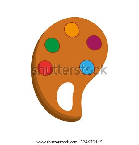 Paint Palette Art Stock Vector Royalty Free 524670115