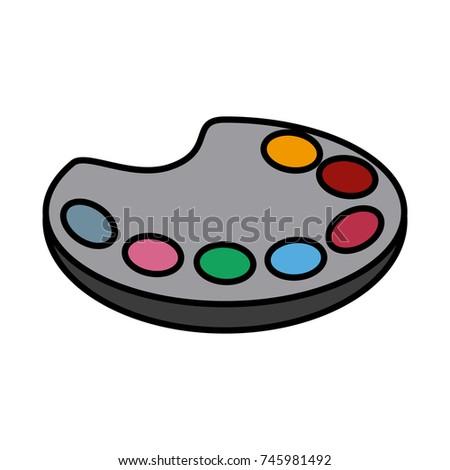 Paint Palette Art Stock Vector Royalty Free 745981492