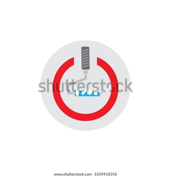 Paint Power Logo Icon Design