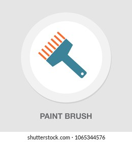 paint roll icon, vector paint brush, wall painter, paint roller