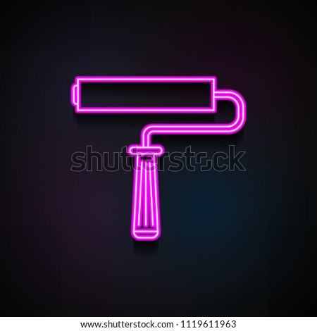 Paint Roller Icon Element Home Repair Stock Vector (Royalty Free