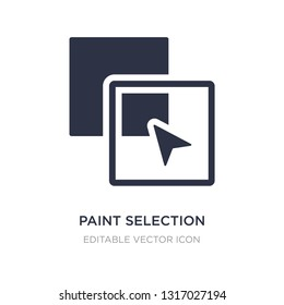 paint selection icon on white background. Simple element illustration from Shapes concept. paint selection icon symbol design.