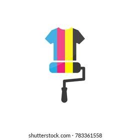 Paint shirt logo vector design template