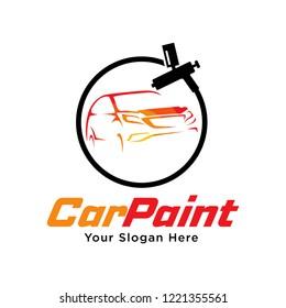 Paint Shop Logo Template Design Vector, Emblem, Design Concept, Creative Symbol, Icon. Car Paint Logo Template Design Vector.