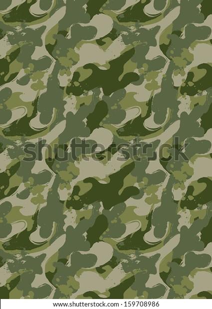 Paint Splatter Camouflage Illustrator Swatch Repeat Stock