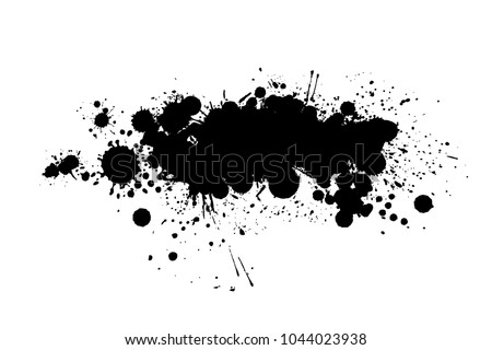 Paint Spot Object Vector Stock Vector Royalty Free 1044023938