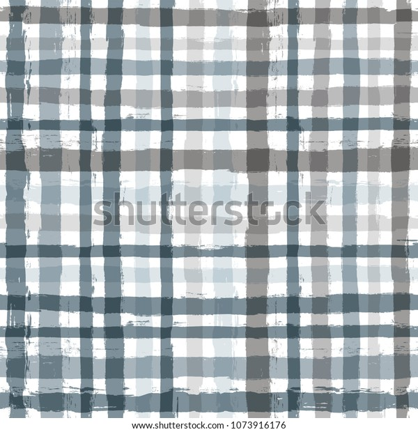 Paint Stripe Plaid Seamless Pattern Vector Stock Vector (Royalty