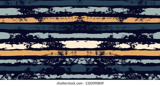 Paint stripe seamless pattern. Geometric striped graphic background. abstract ink brush strokes. grunge stripes, trendy paintbrush line on black. texture lines backdrop - Vector