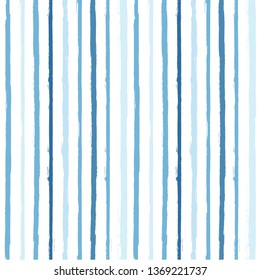 paint stripe Seamless pattern. vector Hand drawn striped geometric background. blue ink brush strokes. grunge stripes, modern paintbrush line for wrapping, wallpaper, textile