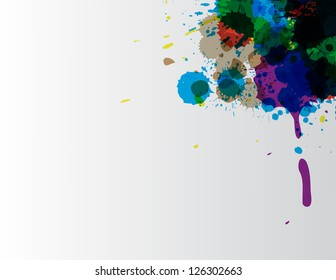 paint wallpaper for your business with different splats.