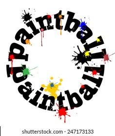 Paintball concept vector design