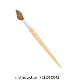 Paintbrush for watercolor drawing isolated on white