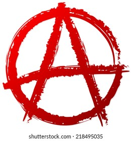 Painted anarchy symbol