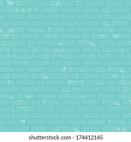 Painted brick wall. Vector background