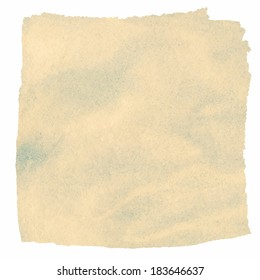 Painted brown watercolor square. Vector design element