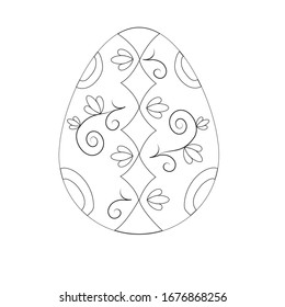 painted easter egg black and white