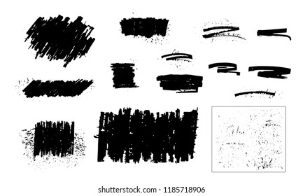 Painted grunge backgrounds. Textured banners. Jagged paint splatter. Distress dry brush strokes vector.