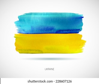 Painted Ukraine flag, vector illustration