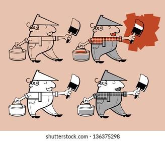 Painter cartoon character