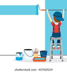 Wall Painting Equipment Stock Vectors Images Vector Art