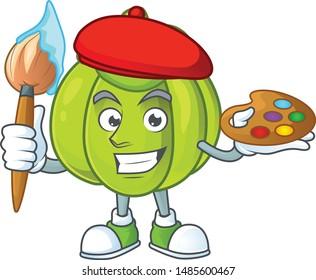 Painter green pumpkin vegetable for ingredient food