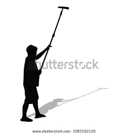 Painter Painting House Work Vector Silhouette Stock Vector Royalty
