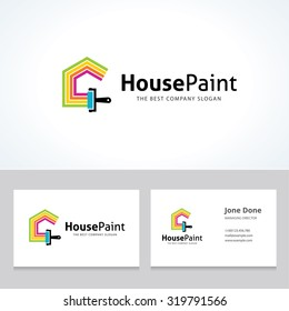Painting logo images stock photos vectors shutterstock painters choicehouse paintrepairpainting servicespainting logohome colourmoves