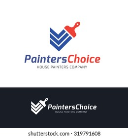 Painters choice,house paint,repair,painting services,painting logo,home,house,Vector logo template