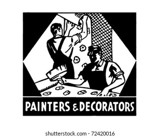 Painters And Decorators - Retro Ad Art Banner
