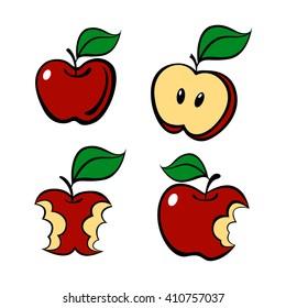 Painting apple set, vector