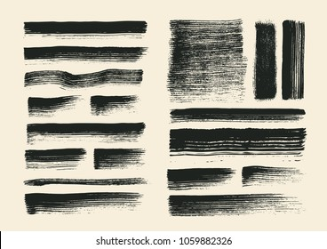 Painting brushes set. vector illustration