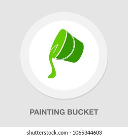 painting bucket icon, vector painting sign symbol - art work equipment, color tool